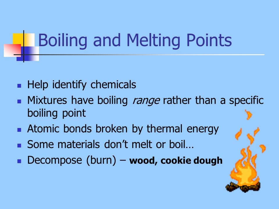 boiling point and melting relationship help