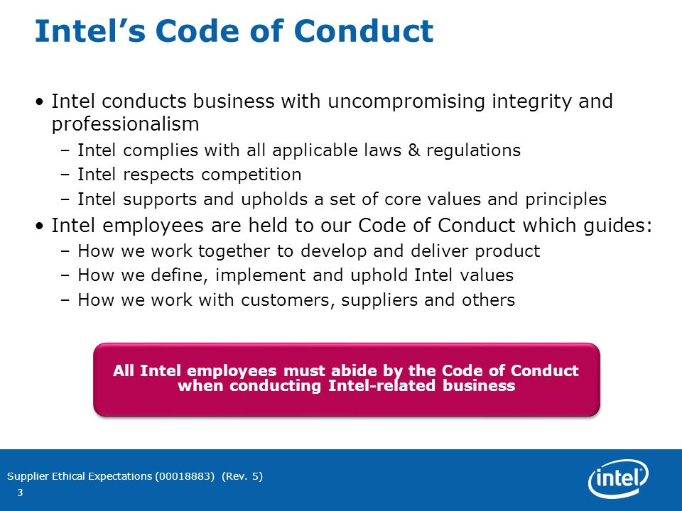ethical code of conduct for a