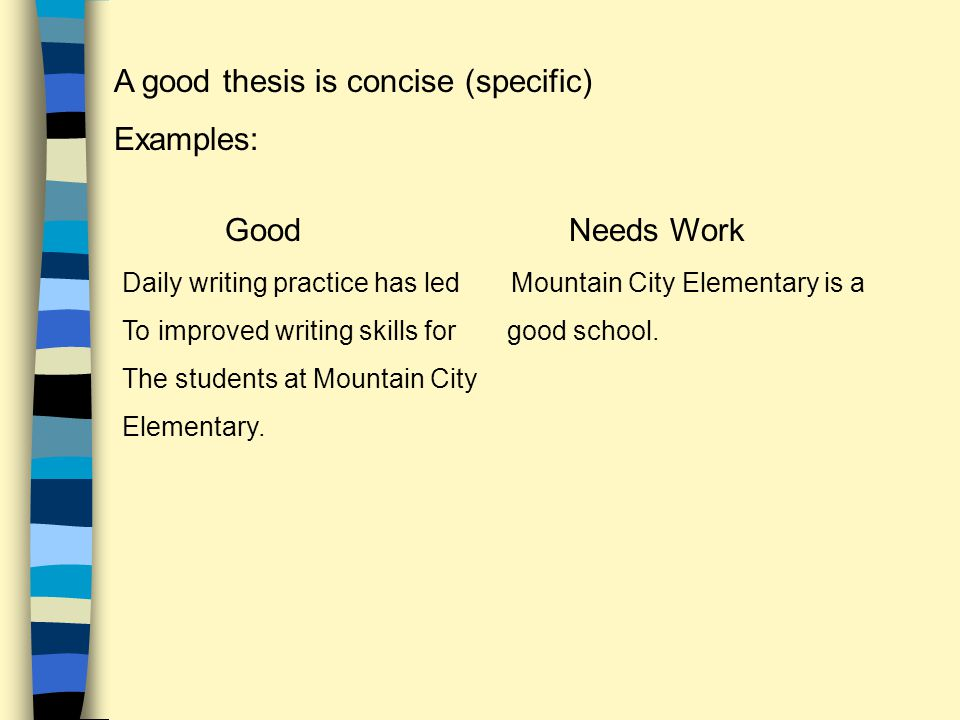 a thesis is a statement of absolute fact Evaluating and revising a thesis:  evaluating and revising a thesis: practice 1 (english ii writing)  a thesis statement gives your position on an issue.