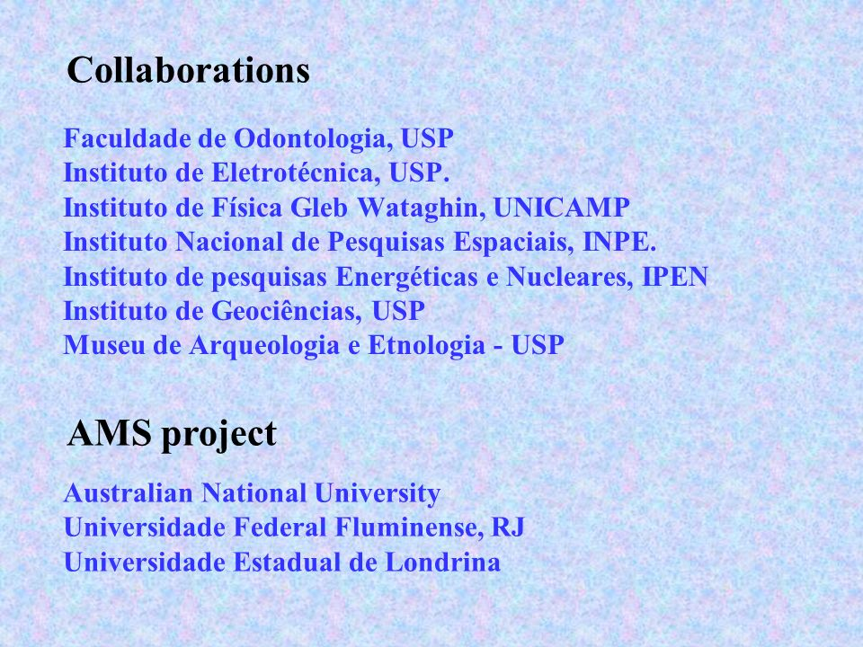 Collaborations AMS project