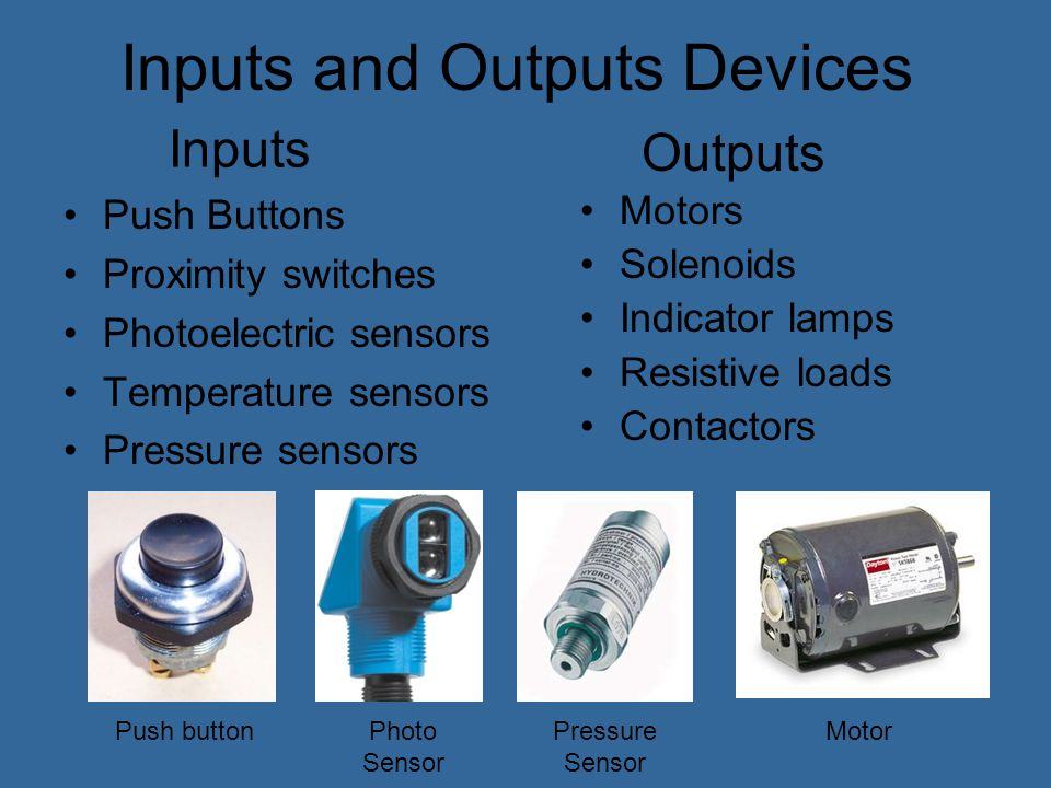 Inputs and Outputs Devices