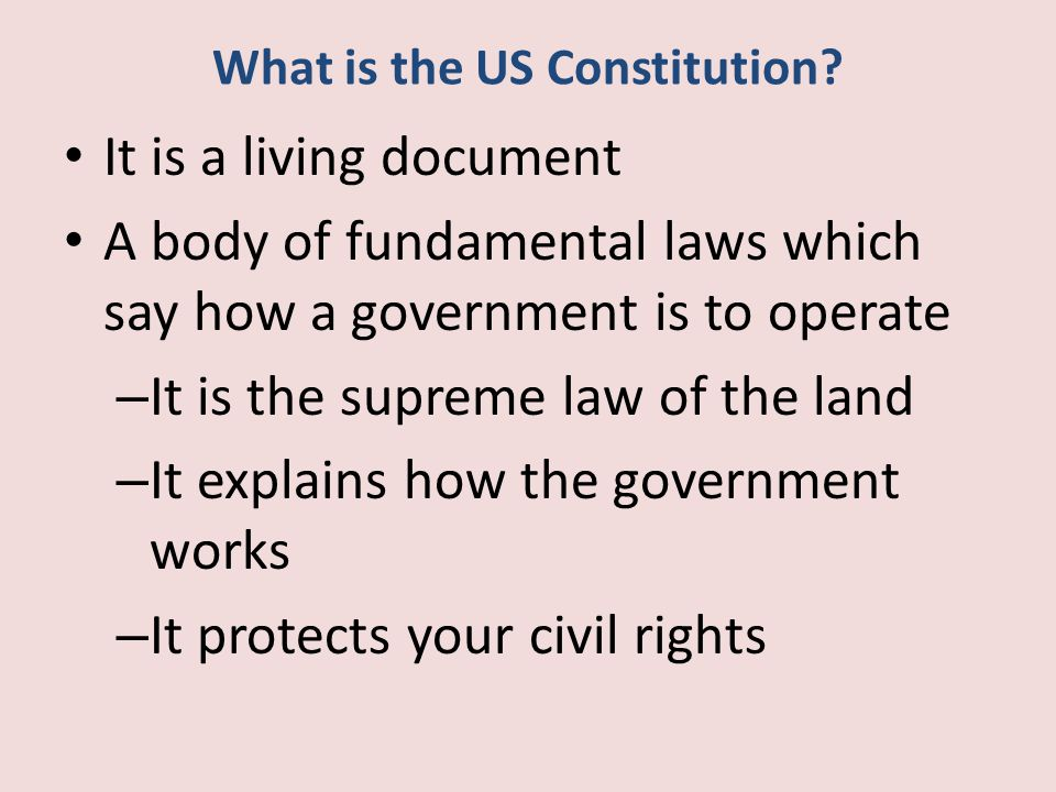 Constitution Is Clearly a Living Document