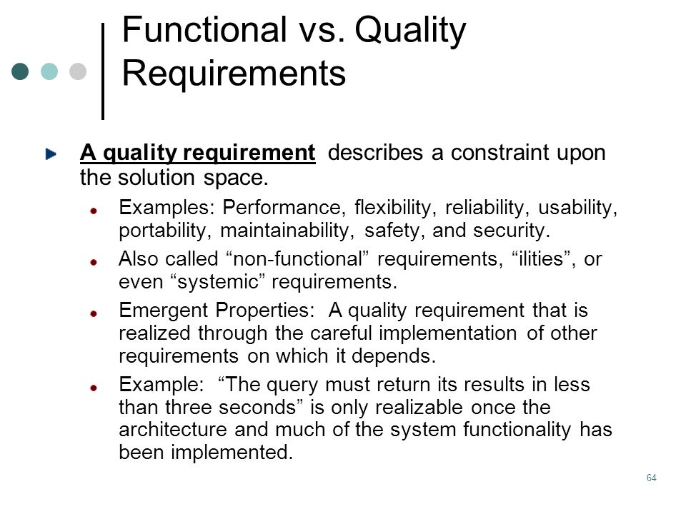 functional requirement The functional requirements for a project are defined and developed after the project's business requirements have been established business requirements business requirements for a project are a series of needs that must be fulfilled to achieve a.