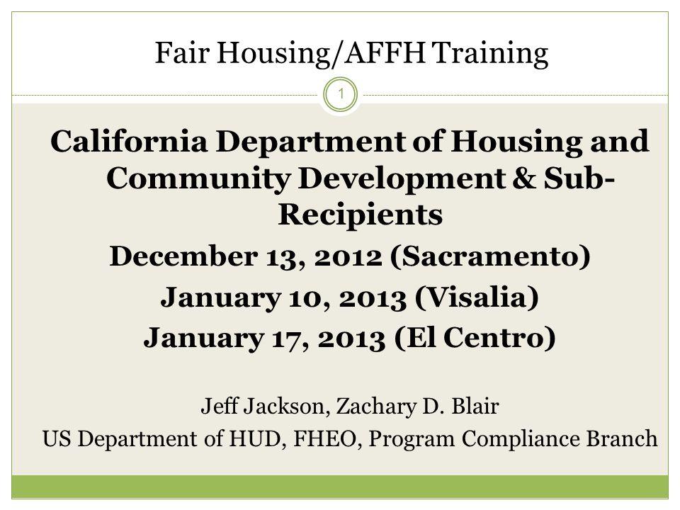 Fair Housing AFFH Training