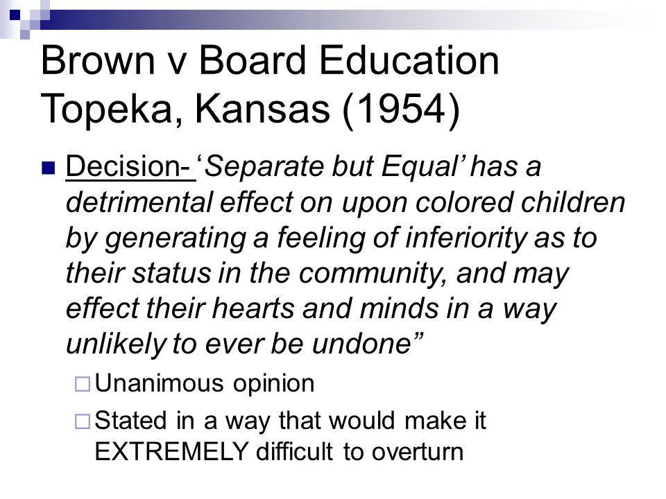 an analysis of brown vs board of education of topeka Irac analysis of brown vs board of education - free download as pdf file (pdf), text file (txt) or read online for free this is a post for my school law class.
