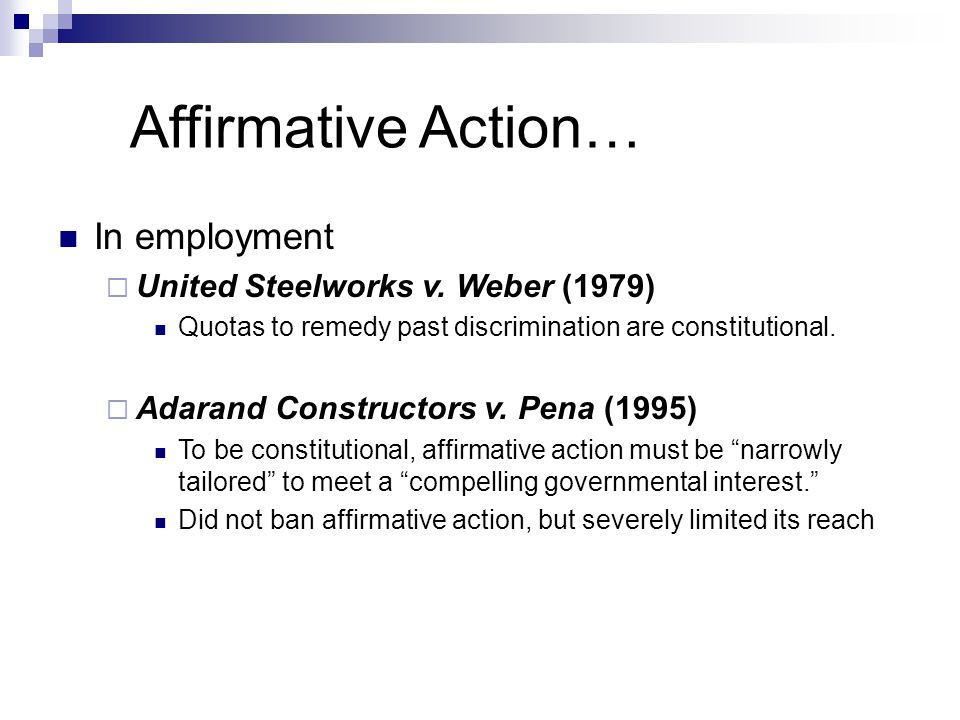 affirmative action should be eliminated by the united states government I introduction the united states government must ensure that all its personnel actions are made free of any discrimination based on race, color, religion, sex, national origin or reprisal and that each of its agencies has an affirmative program of equal employment opportunity for all employees and applicants for employment.