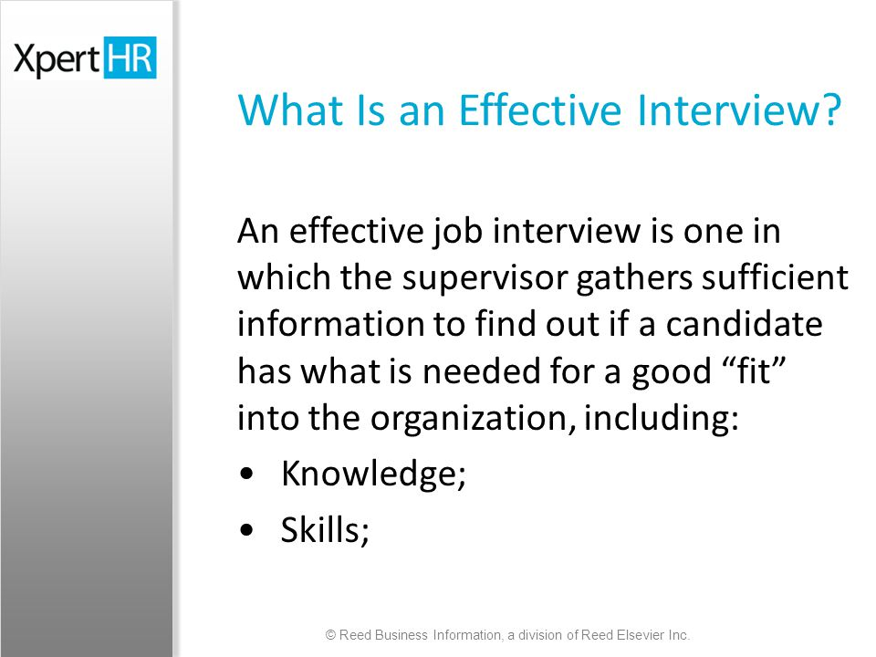 effective interview skills Communication skills – interview questions are  you would be best equipped to answer this question because effective teamwork requires good working relationship.