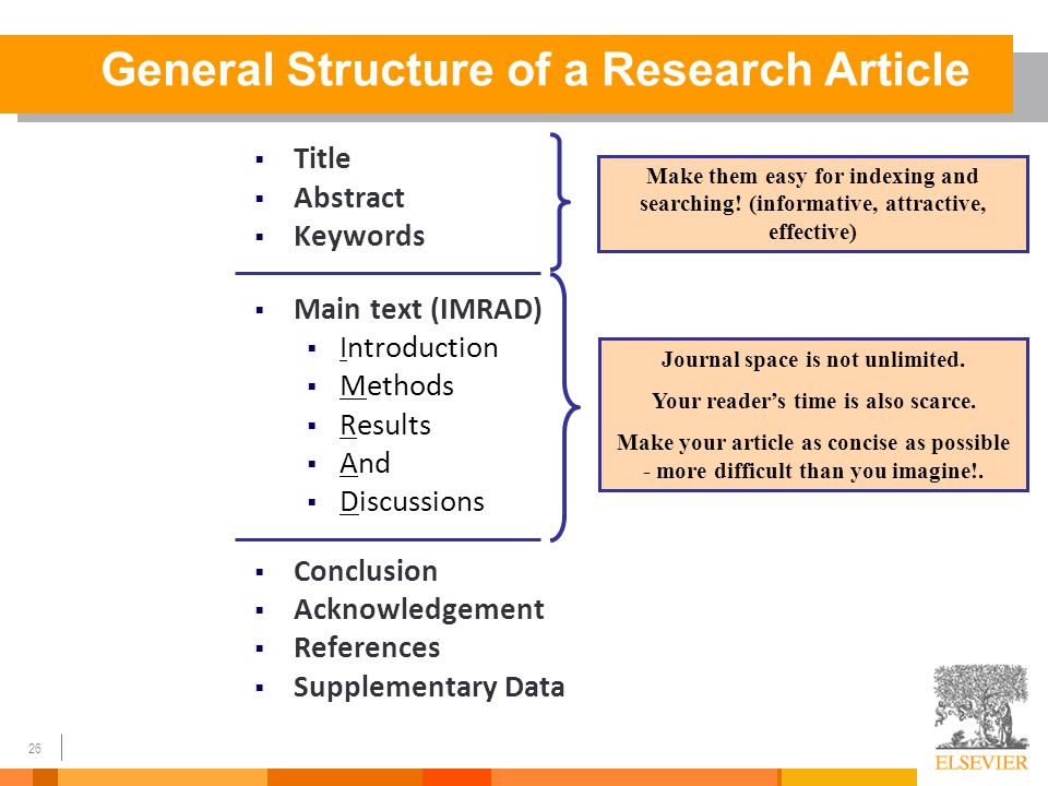 how to write a well structured article