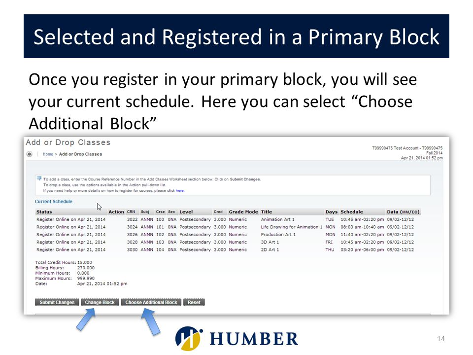 Selected and Registered in a Primary Block
