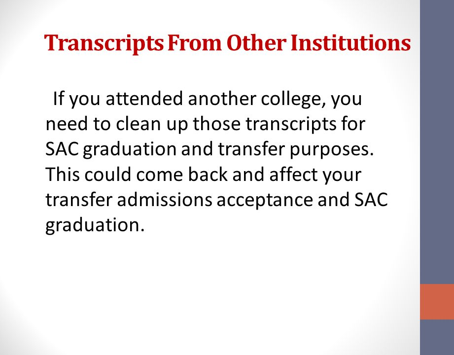 Transcripts From Other Institutions