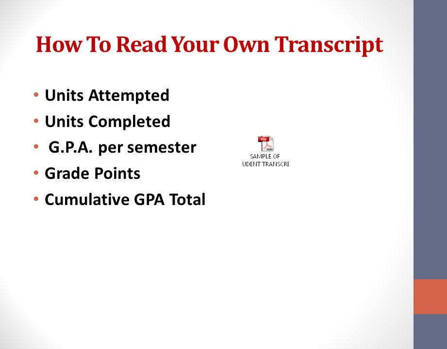 How To Read Your Own Transcript