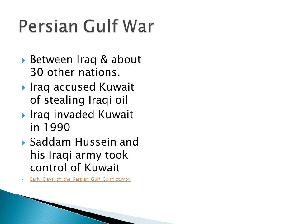 analysis of the persian gulf war reasons for the victory over saddam hussein