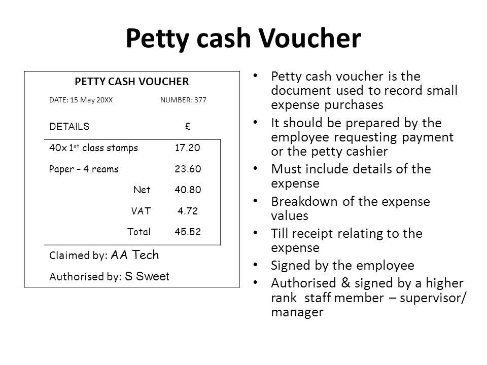 7 Petty ...  Petty Cash Voucher Definition