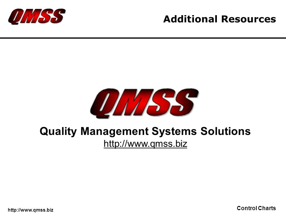 Quality Management Systems Solutions http://www.qmss.biz