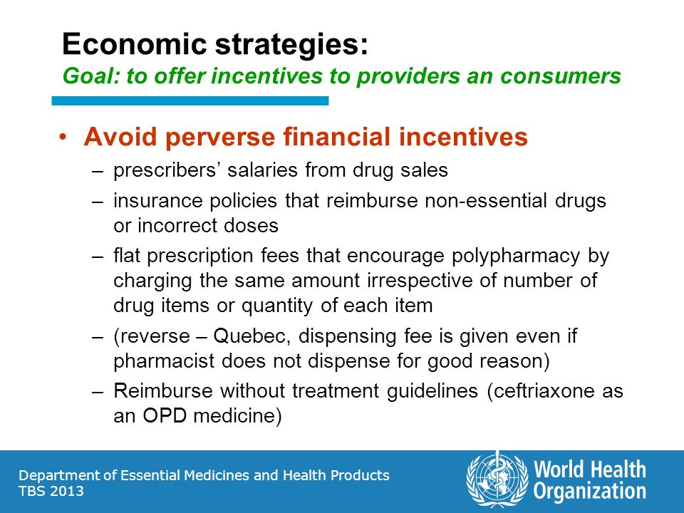 Economic strategies: Goal: to offer incentives to providers an consumers