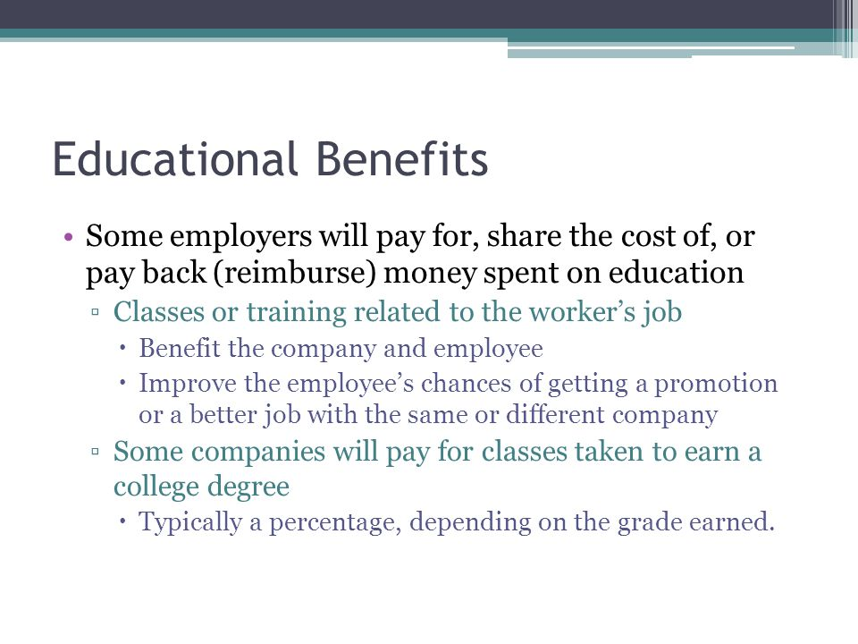 Earned In e and Benefits ppt