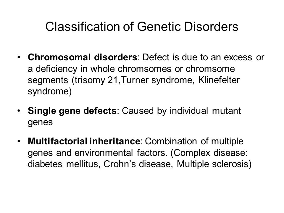 classification of genetic disorders pdf