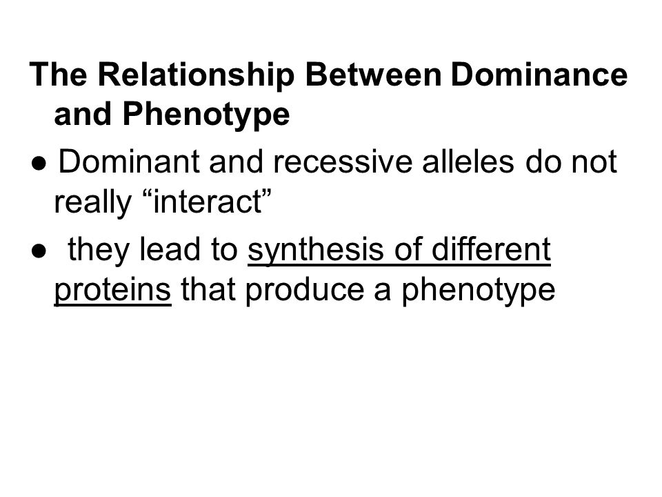how is incomplete dominance from a dominant and recessive relationship