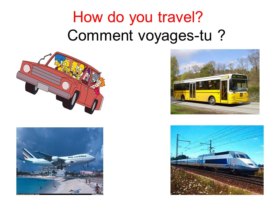 How do you travel Comment voyages-tu