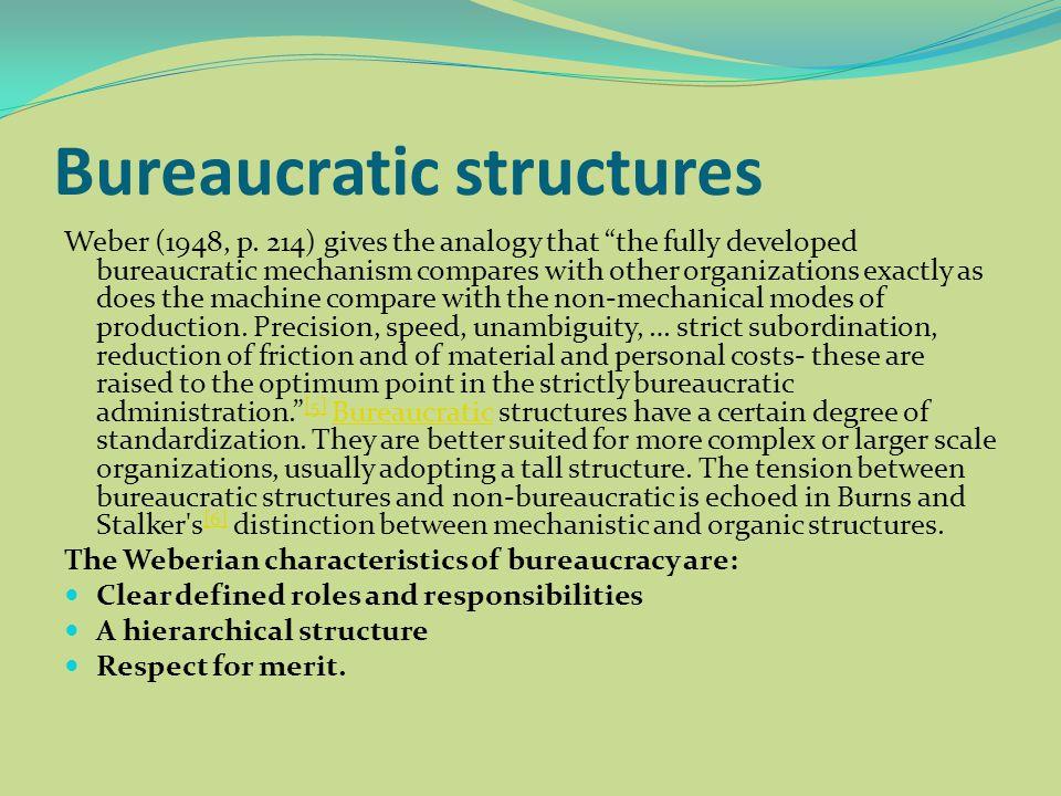 characteristics of bureaucracy max weber