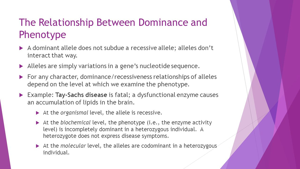 recessiveness and dominance in a relationship