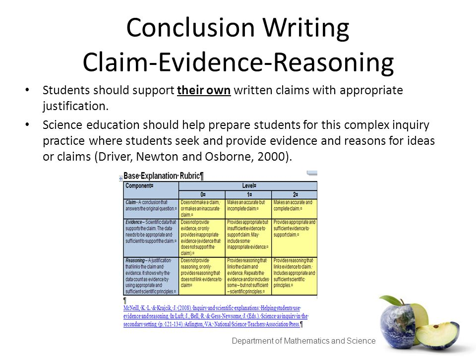 evidence based claim essay Thus, evidence-based arguments will, no doubt, receive a good share of  to see  an example of both a persuasive essay and an argument on the same topic.