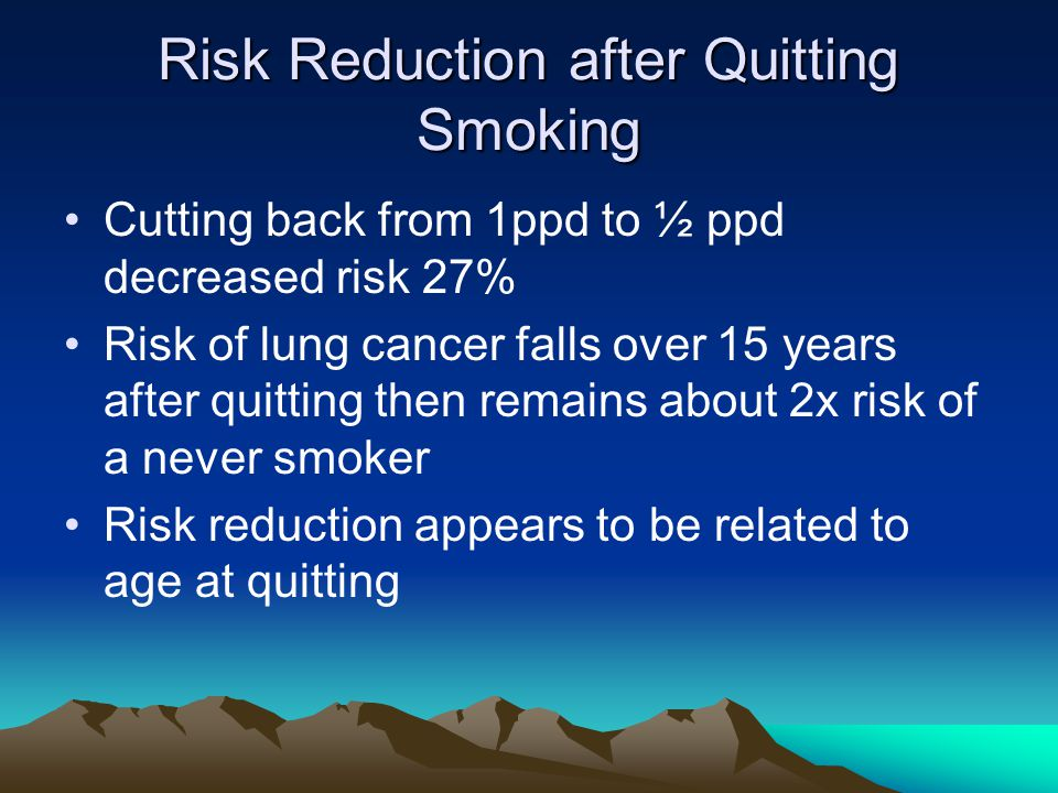 Risk Reduction after Quitting Smoking