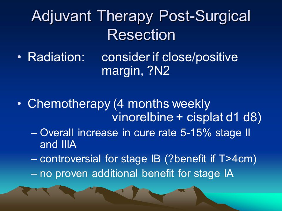 Adjuvant Therapy Post-Surgical Resection