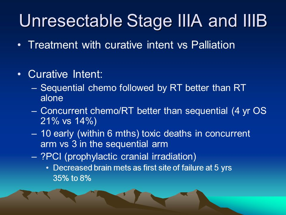 Unresectable Stage IIIA and IIIB