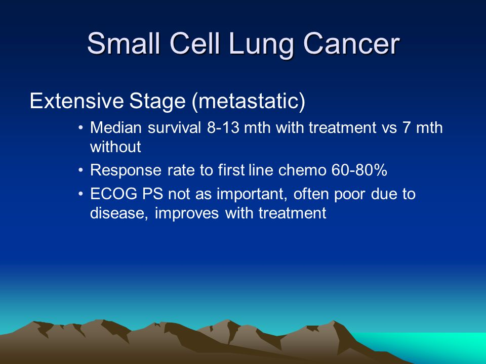Small Cell Lung Cancer Extensive Stage (metastatic)