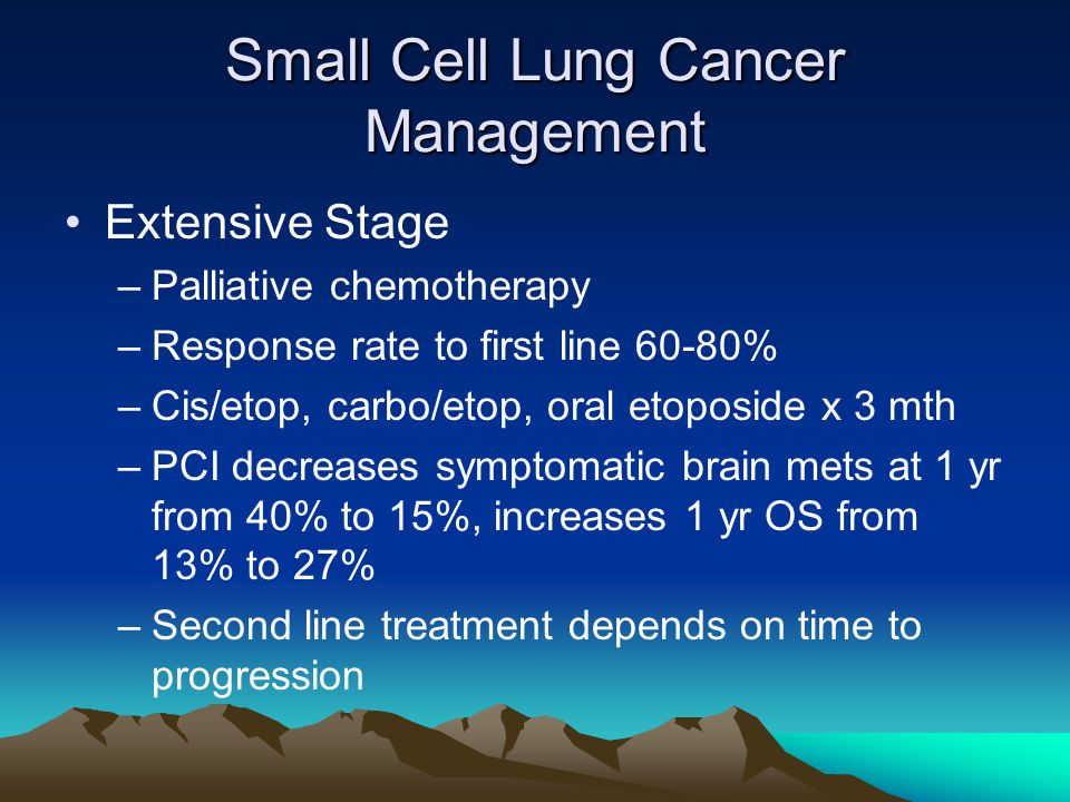 Small Cell Lung Cancer Management