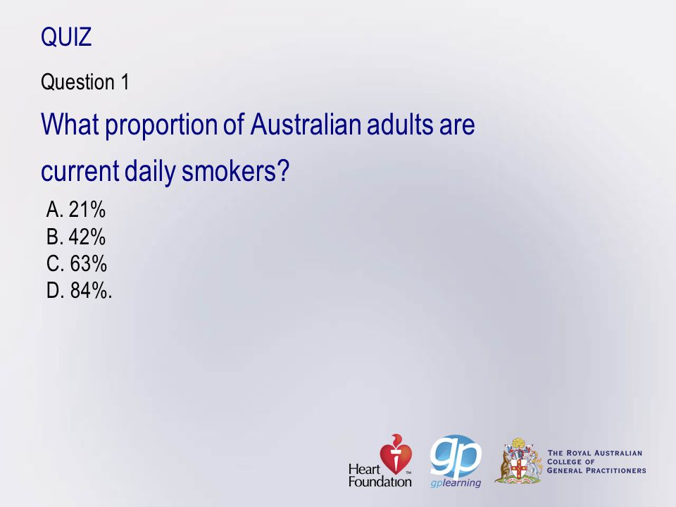 What proportion of Australian adults are current daily smokers