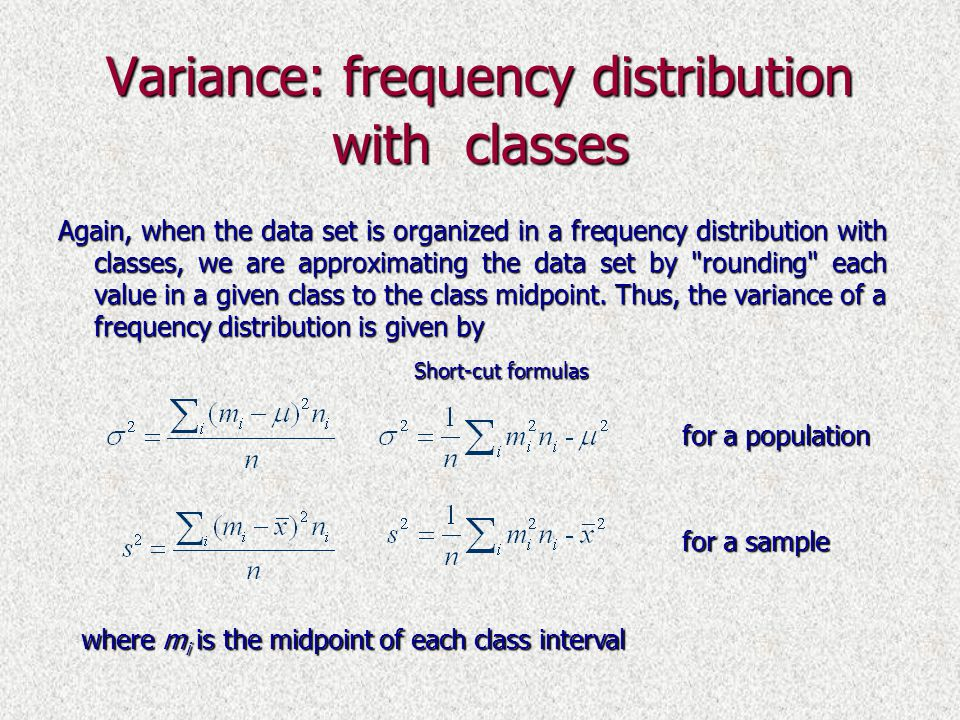 frequency percentage formula thesis A frequency distribution shows how often an event or category of data occurs with a histogram, you can visually see the general distribution of a certain attribute a nice feature to add to your histograms is a cumulative percent series.