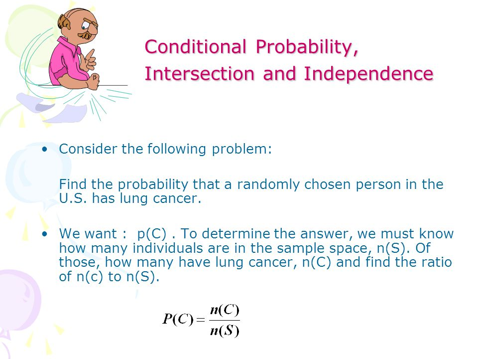 how to find the intersection in probability