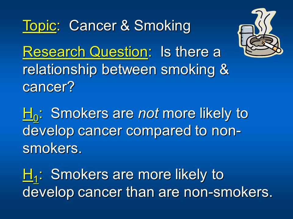 Topic: Cancer & Smoking