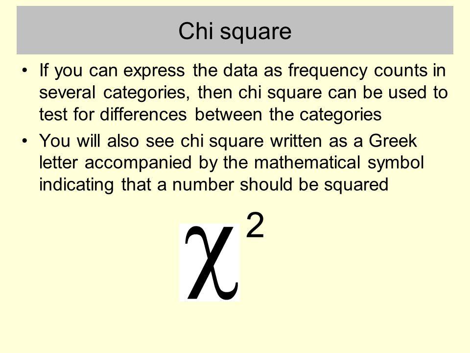 Chi Square Greek Letter