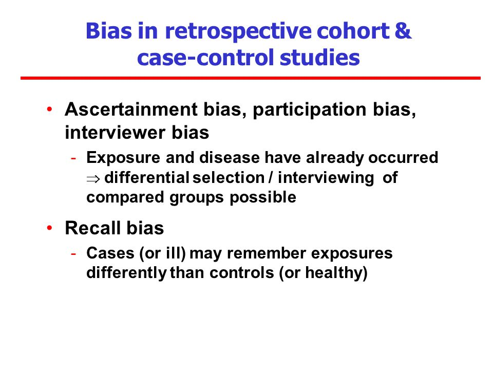 Case-control study 3: Bias and confounding and analysis - PowerPoint PPT Presentation