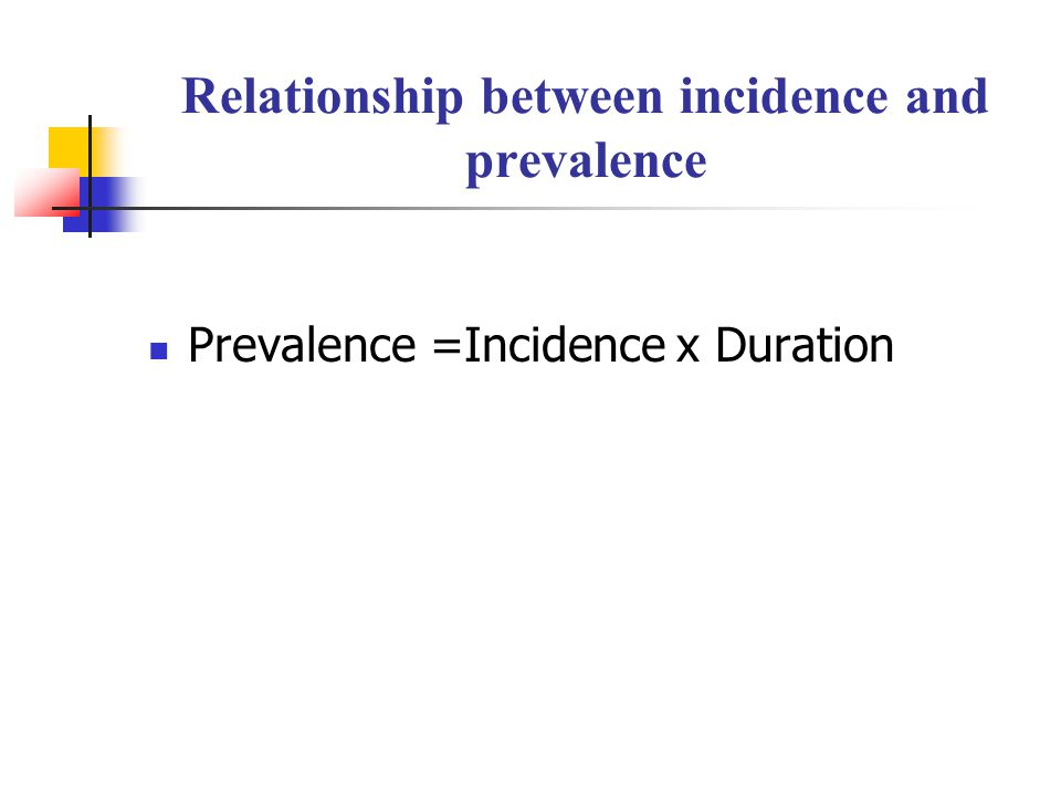 relationship between incidence and prevalence in epidemiology
