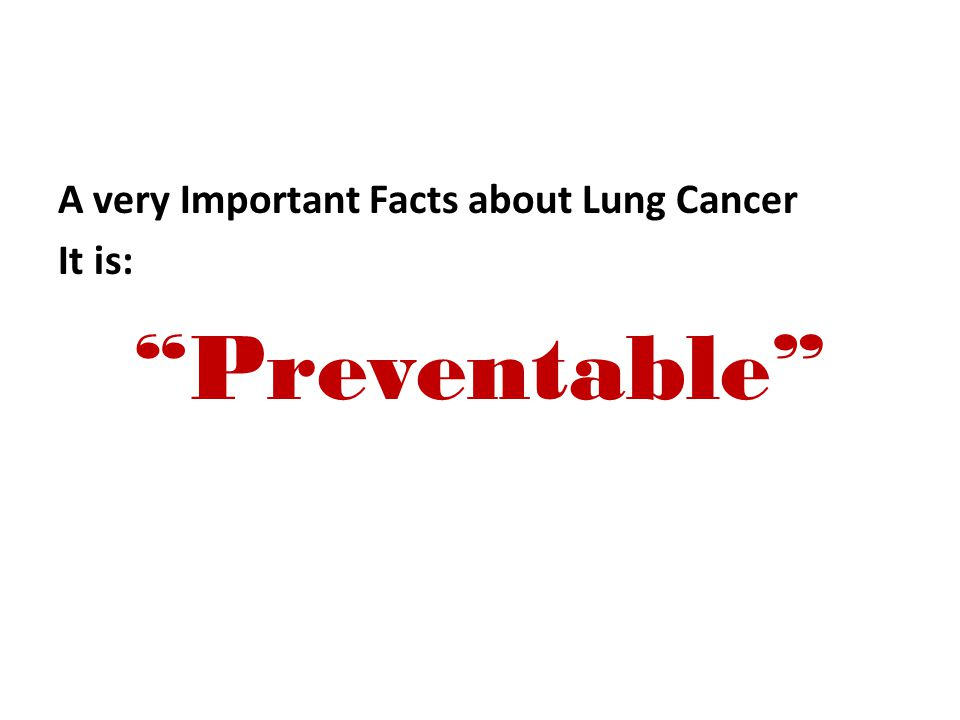 A very Important Facts about Lung Cancer