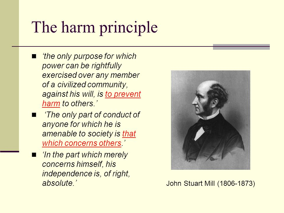 The harm principle