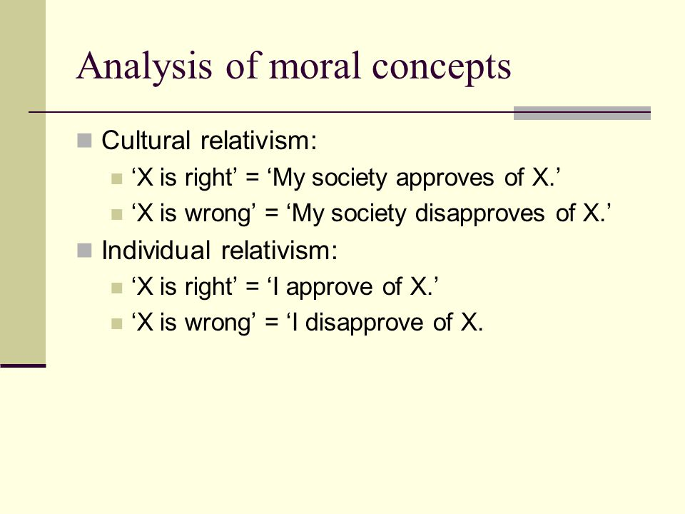 Analysis of moral concepts