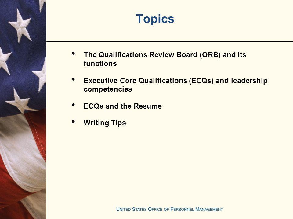 senior executive service executive core qualifications preparing