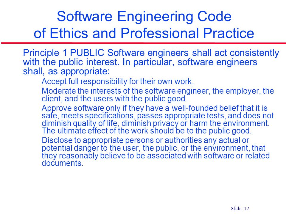 codes of ethics and practices