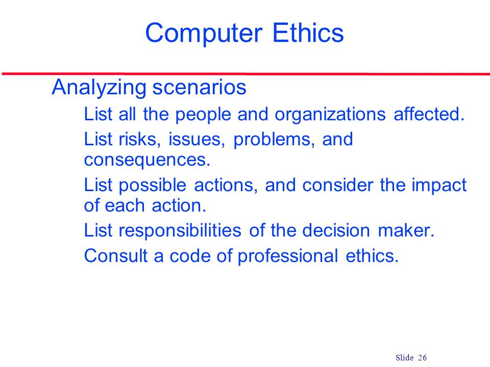 professional responsibility in computer science Keywords: abet, accreditation, ethics, computer science, teaching  methods and tools of analysis, professional and ethical responsibilities, risks and.