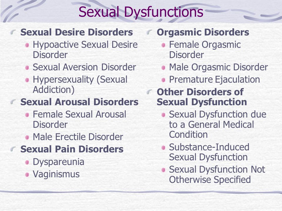 Sexual Deviation Or Disorder