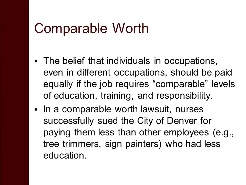 the comparable worth debate case 10 1 Read this essay on the comparable worth debate come browse our large digital warehouse of free sample essays comparable worth case study.