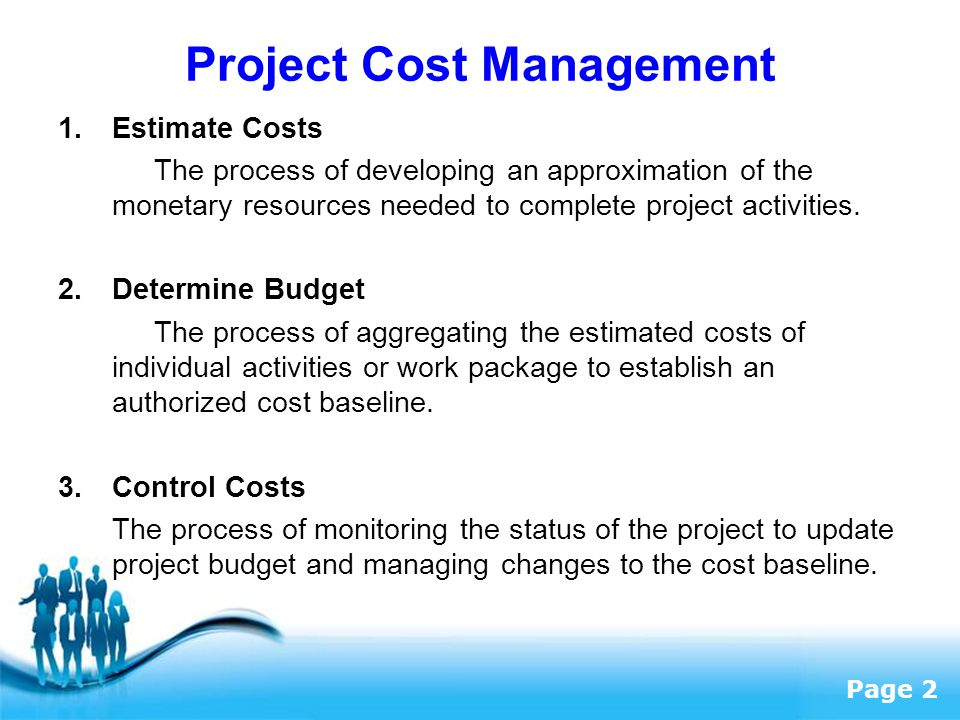 Cost Management And Methodology Of Budget Control Construction Essay