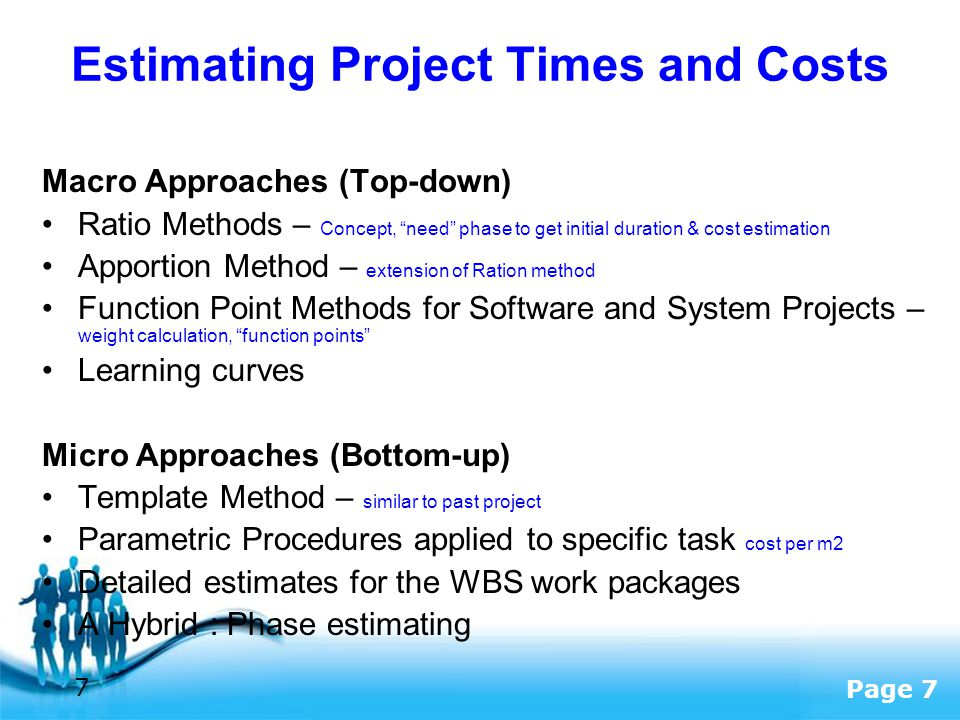 cost estimating free bottom software up