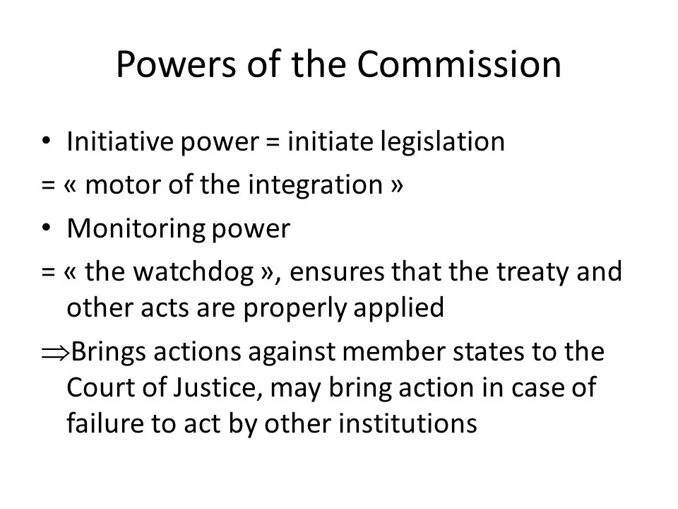 Powers of the Commission