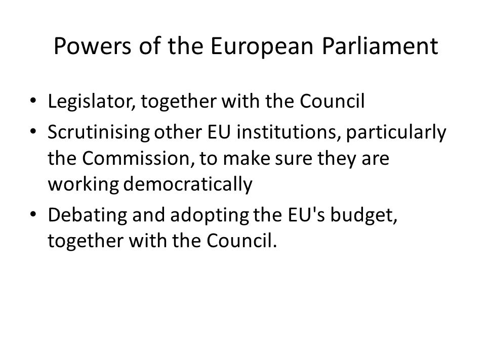 Powers of the European Parliament